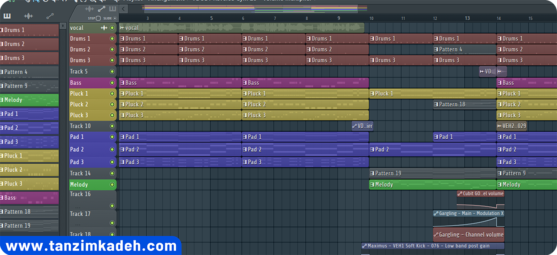 آموزش اف اس استودیو آموزش تنظیم آموزش آهنگسازی تنظیم کده