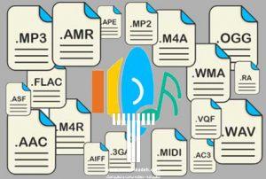 انواع فرمت های صوتی تنظیم کده
